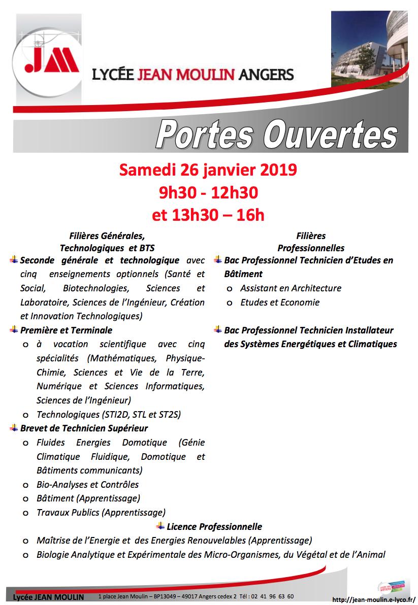 Portes Ouvertes Lycée Jean Moulin